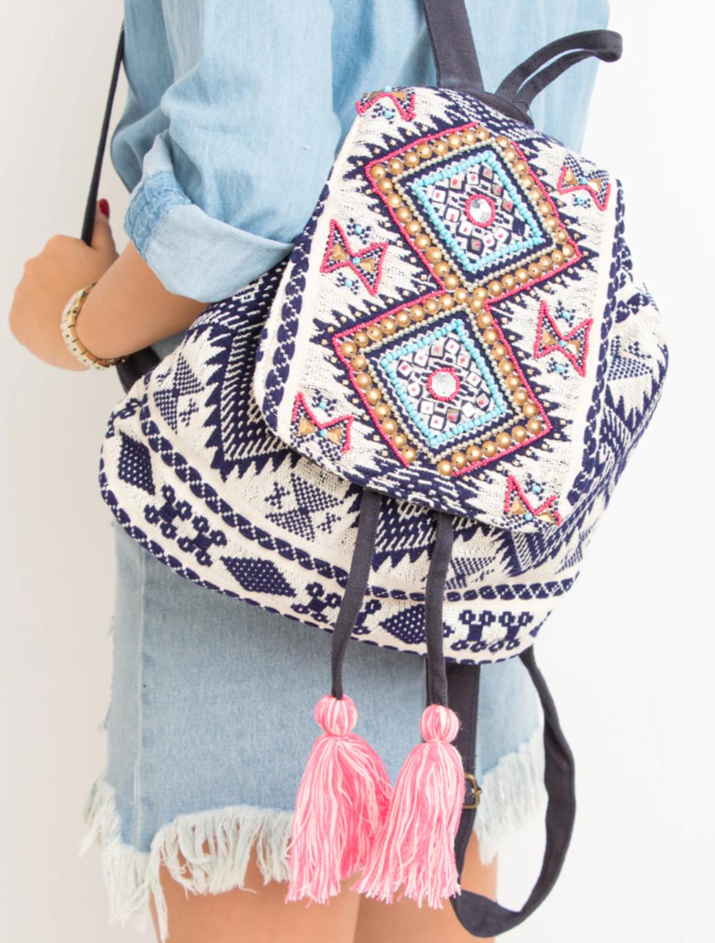 Purple Bead Embellished Backpack.png