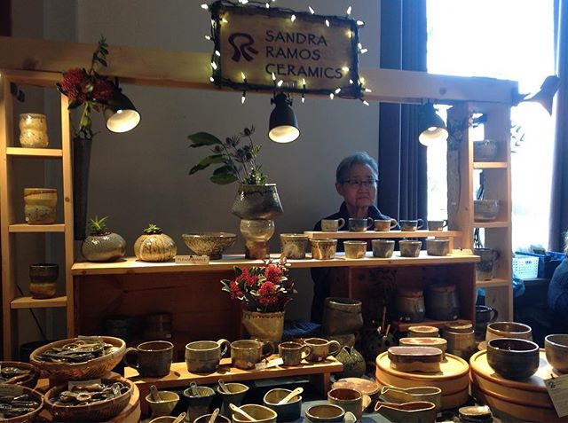 All ready at the 25th Annual Women's Winter Faire with my assistant (mom). Dec. 15 & 16, 11-5 pm @ the Heritage Hall, 3102 Main St., Vancouver, BC