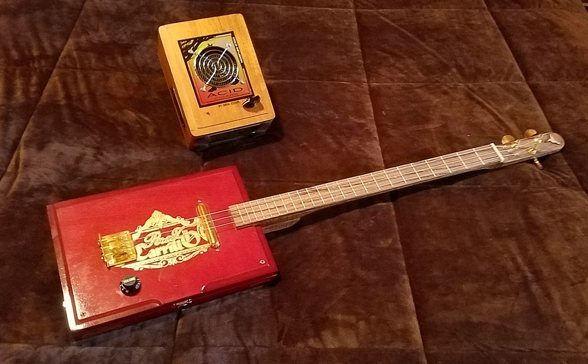 Electric Cigar Box Guitar with Amp