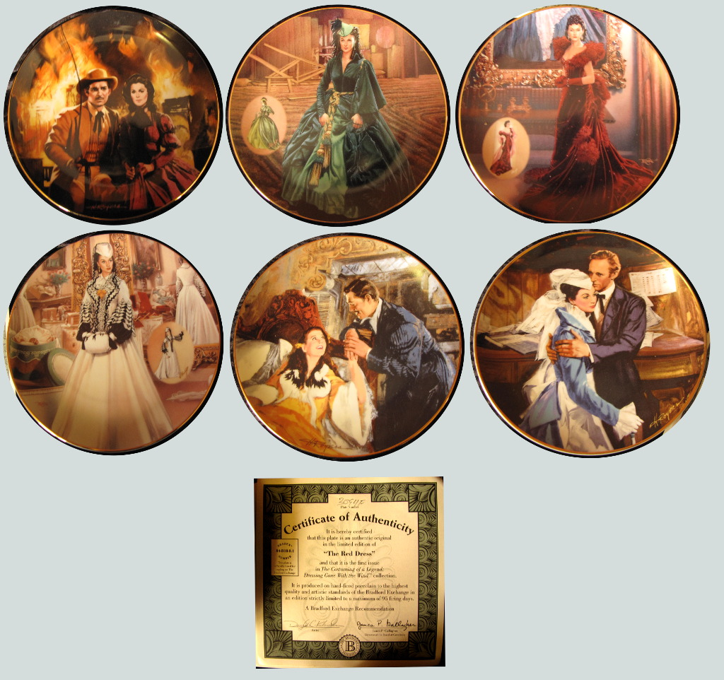 Gone with the Wind Commemorative Plates
