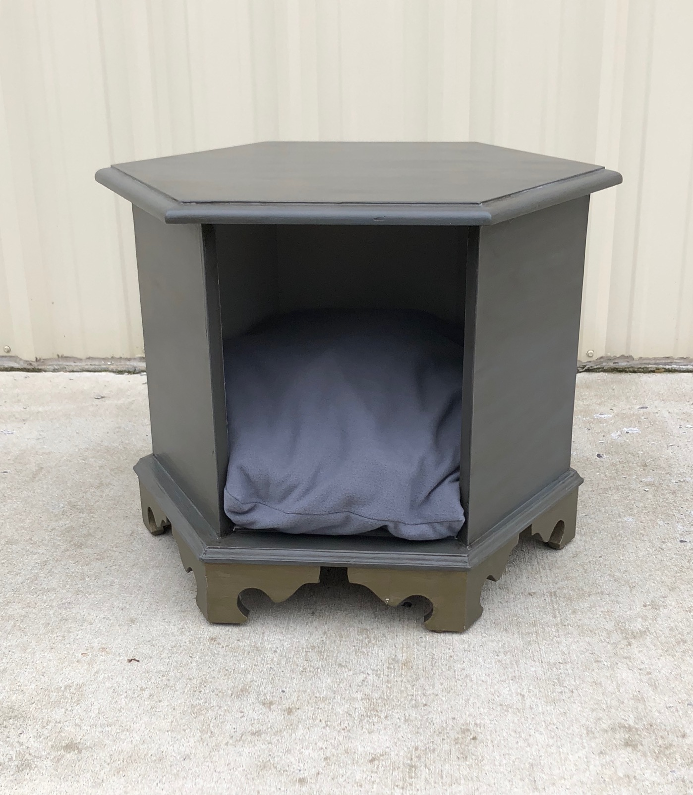 End Table Pet Bed (Gray)