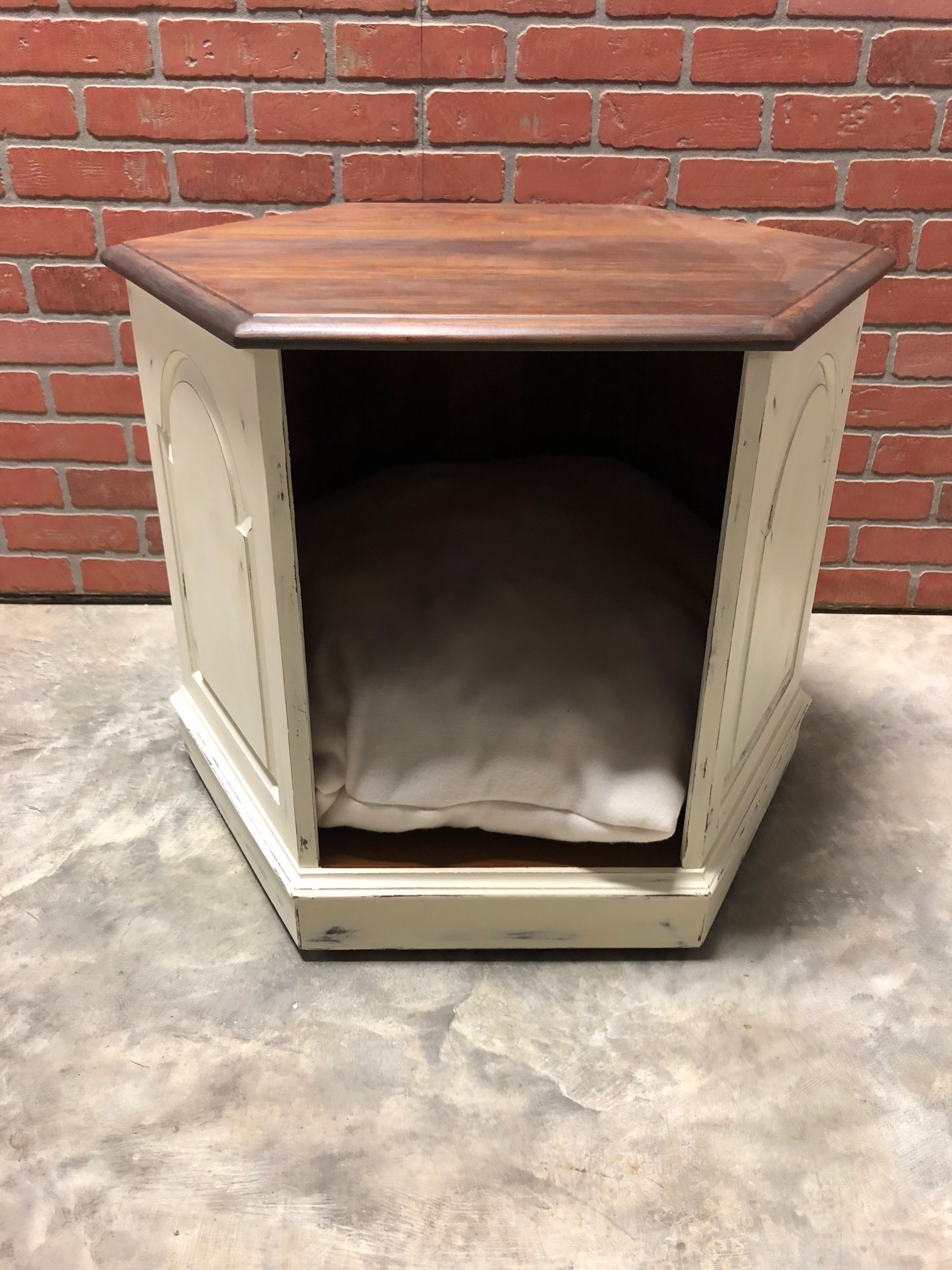 End Table Pet Bed (Cream)