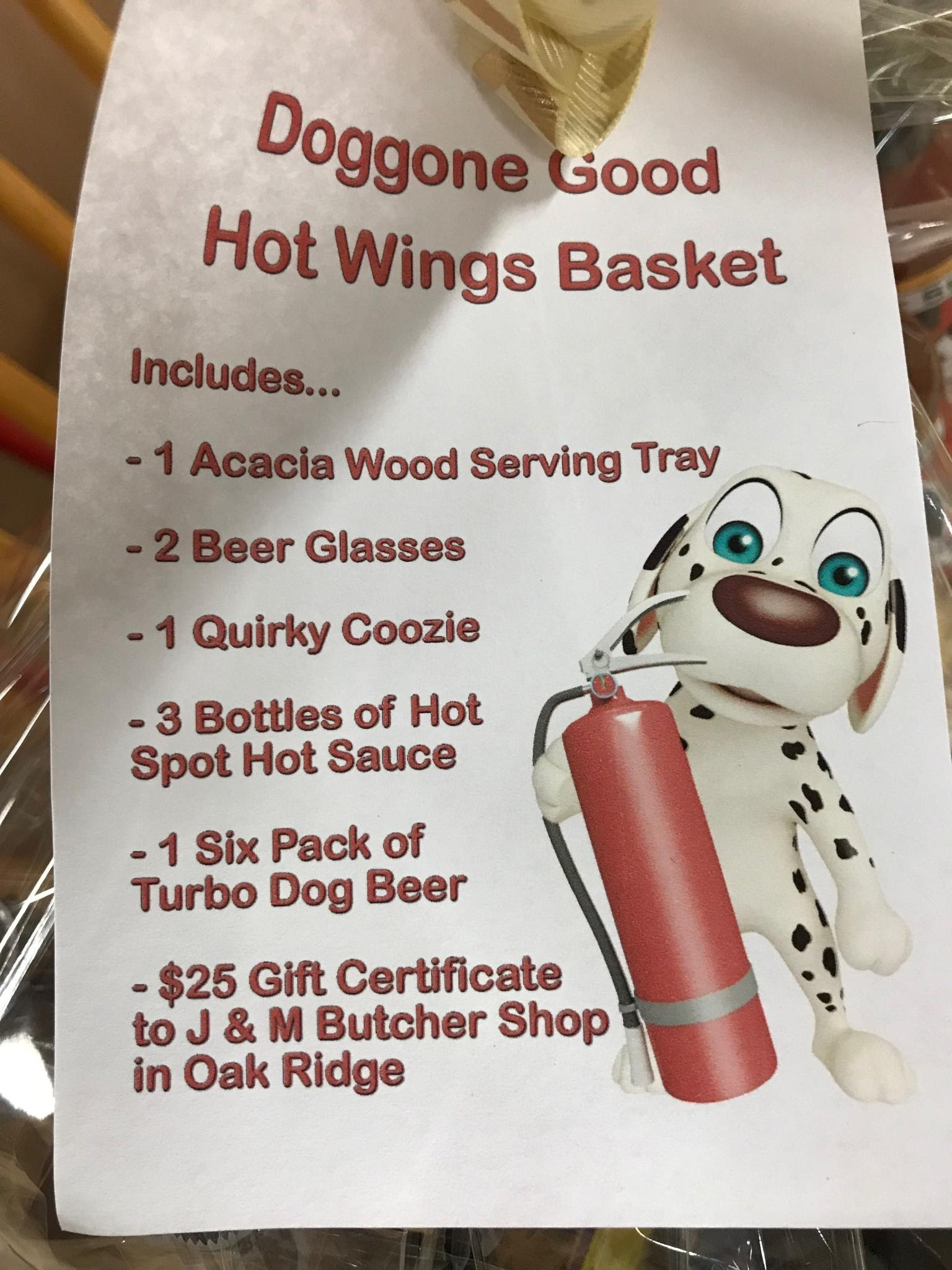 Doggone Good Hot Wings Basket