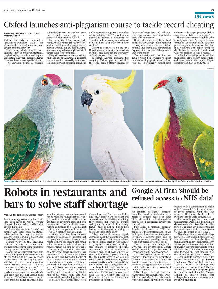 The Times, June 2018