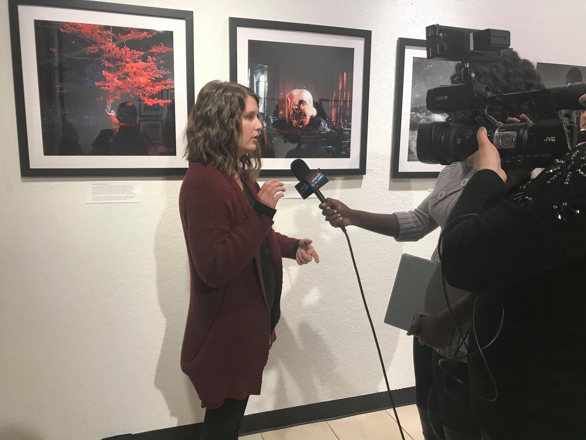 Samantha Goss of Sleeping Awake Photography being interviewed about her work.