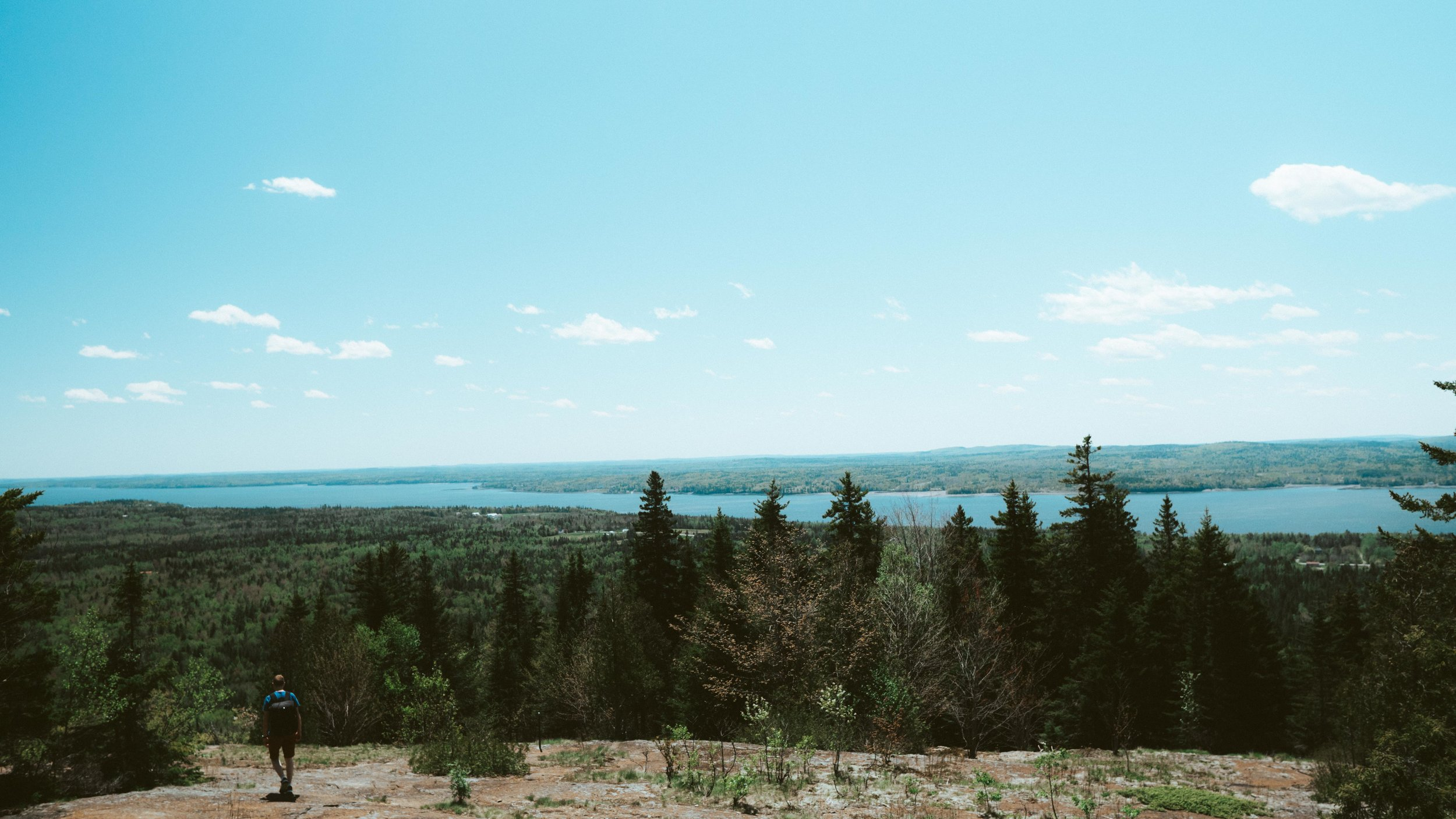 View from the top of Chamcook Mountain