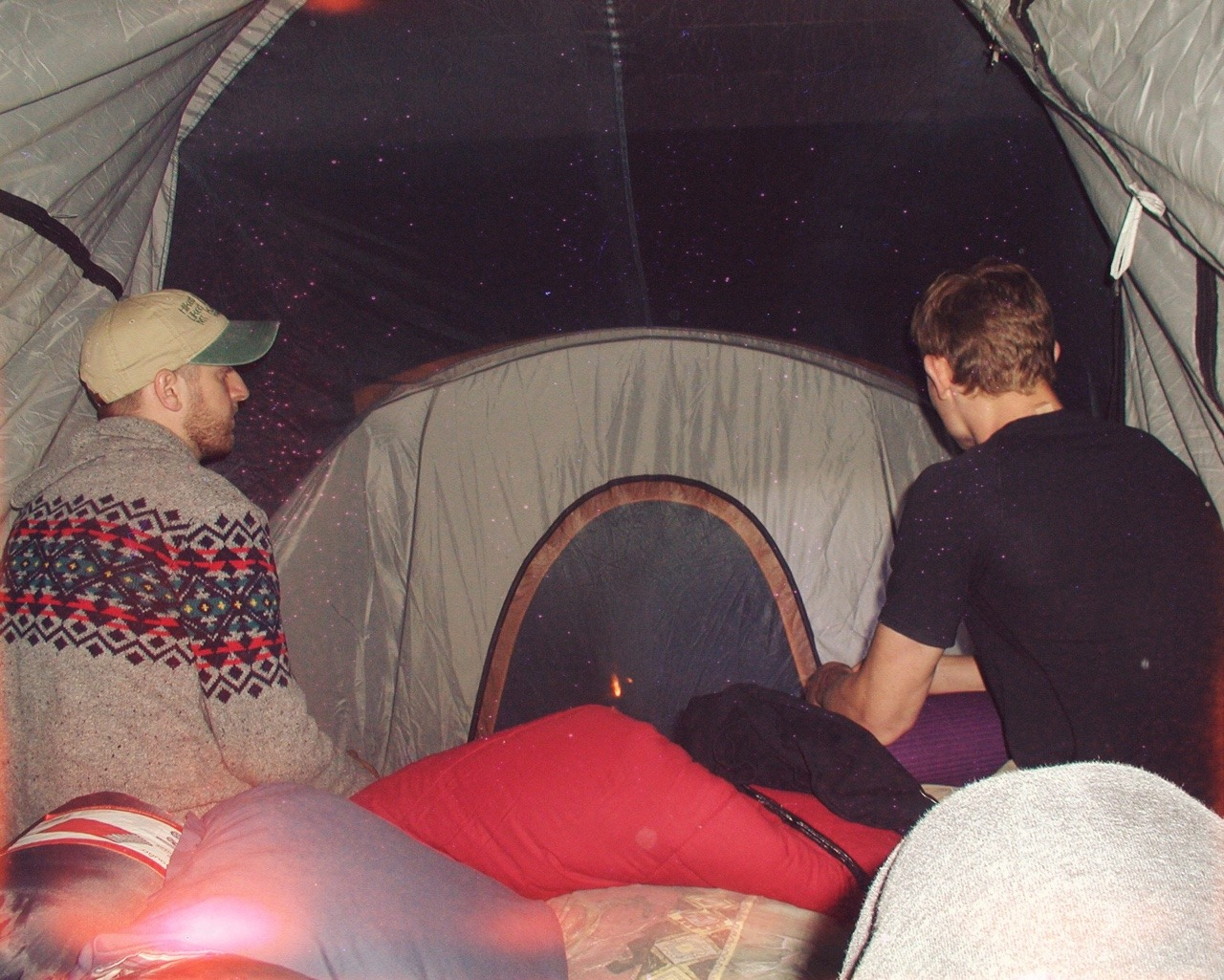 The oversided tent situation ended up being kind of cool. Photo:  Nick Moeller