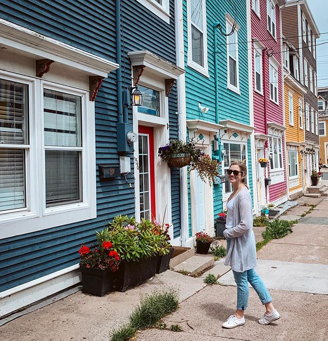 Can't help but smile on Jellybean Row 🍭⁣ ⁣ #nrthwrd #claimthenorth #earnyourrest #explorenfld #explorenewfoundland #atlanticcanada #explorenl #discovernl #explorecanada #newfoundland #jellybeanrow #cbc #exploreeast #eastcoast #eastcoastcreatives #atlanticnortheast #sharecangeo #cangeotravel #travelcanada #travelguide #imagesofcanada #traveltocreate #exploremore