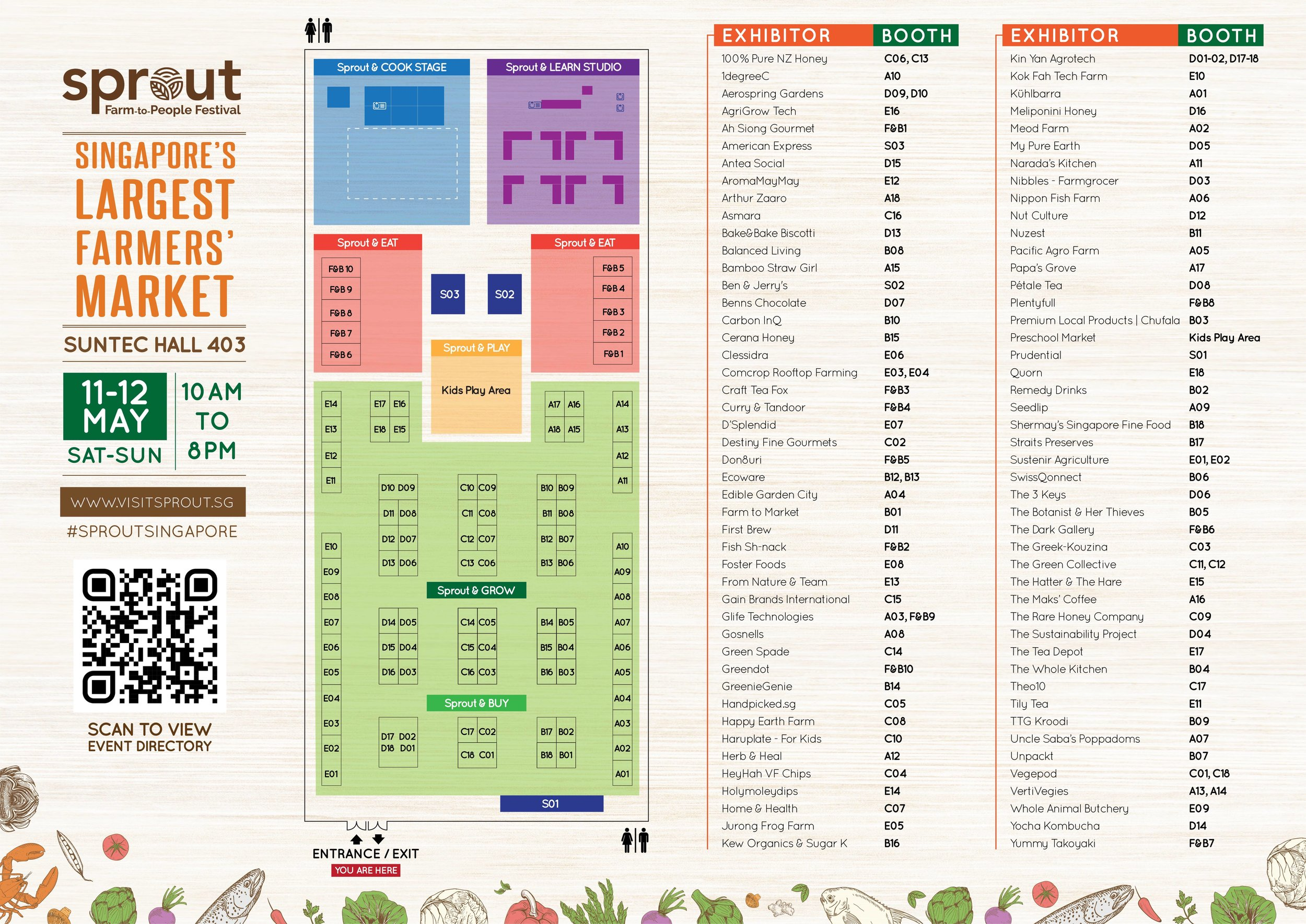 Sprout 2019 - Event Directory Floor Plan