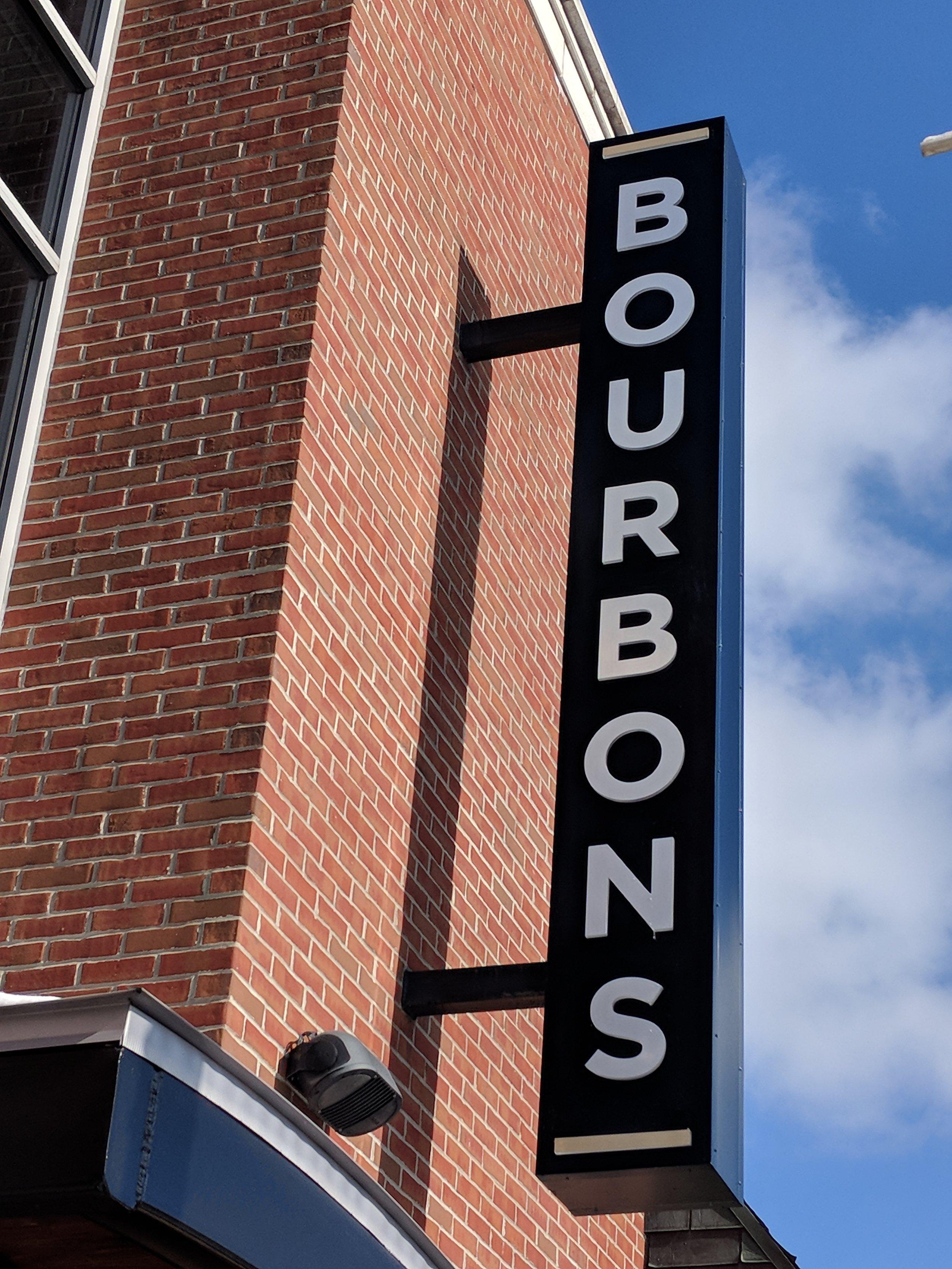 Bourbons Restaurant Sign