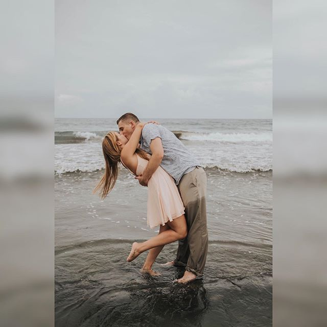 #Dance like nobody's watching  #beachengagement session? HELL YES! . . . #floridaweddingphotographer #melbourneflweddingphotographer