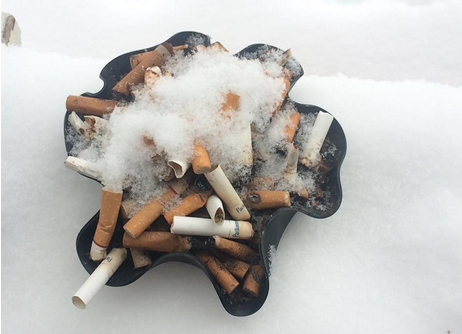 5.    Cigarettes –   Which highly addictive adult snack causes bad breath, yellow teeth, heart disease, cancer, and looks enchantingly beautiful when glossed with snow? Cigarettes! Now  this  is a picture the Surgeon General doesn't want you to see!