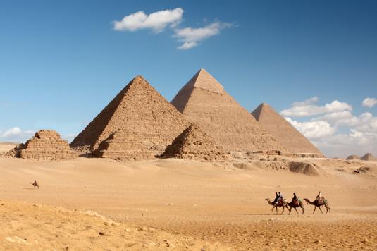 The pyramids are okay. I think some pharaoh built them, not sure.