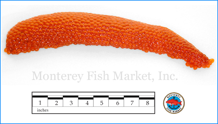 Monterey Fish Market Seafood Index photograph of Steelhead Trout Roe,  Oncorhynchus mykiss