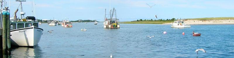 Fishing Boats in Chatham Harbor, Chatham, Massachusetts