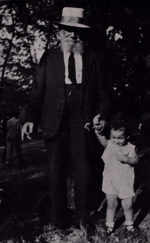 With my grandfather on a stroll in Kansas City - 1931