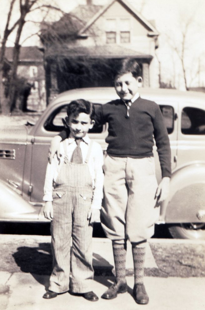 With my cousin Bernard - circa 1936