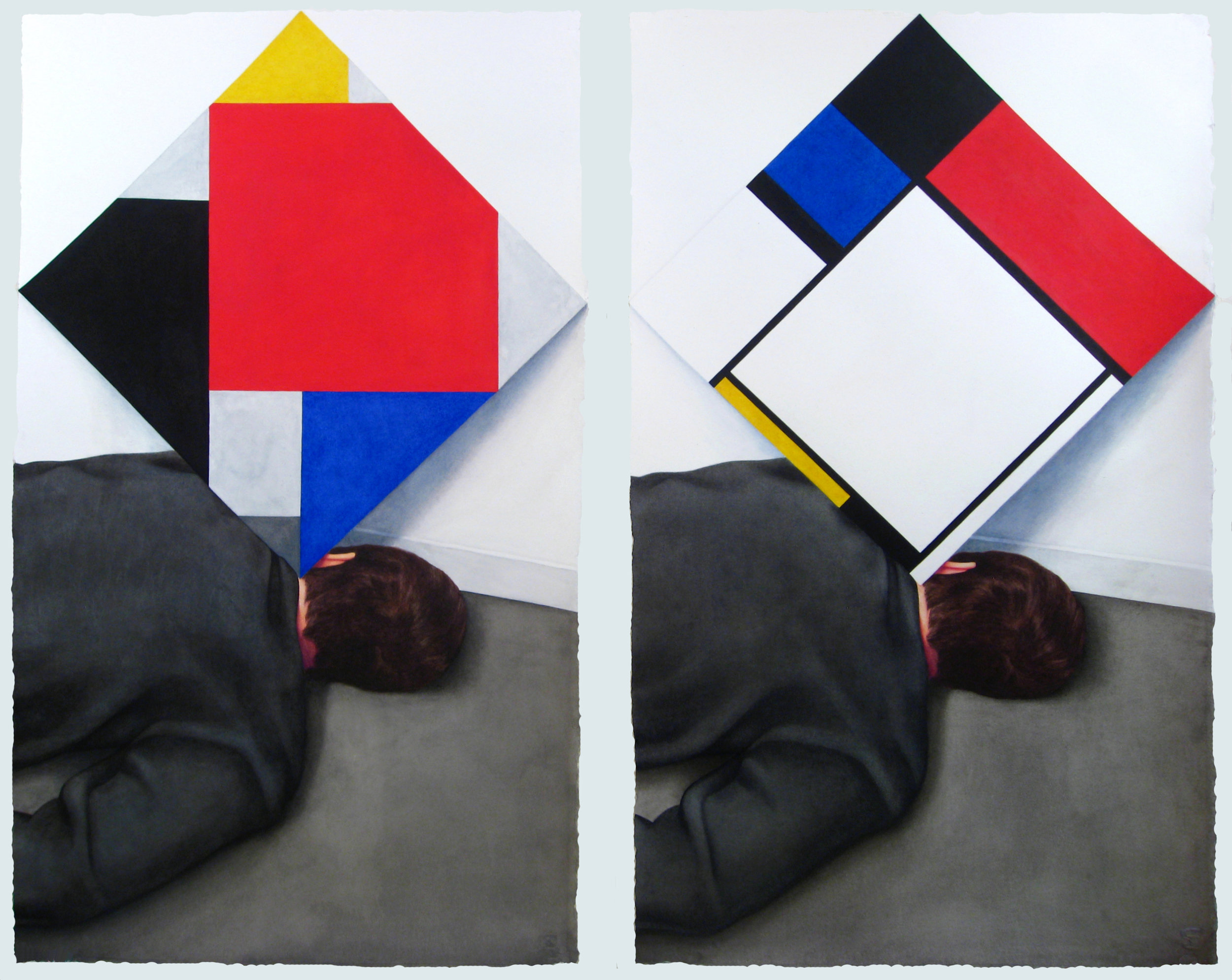 Accident Resolves the Dispute  Over Diagonals Between  Mondrian and Van Doesburg