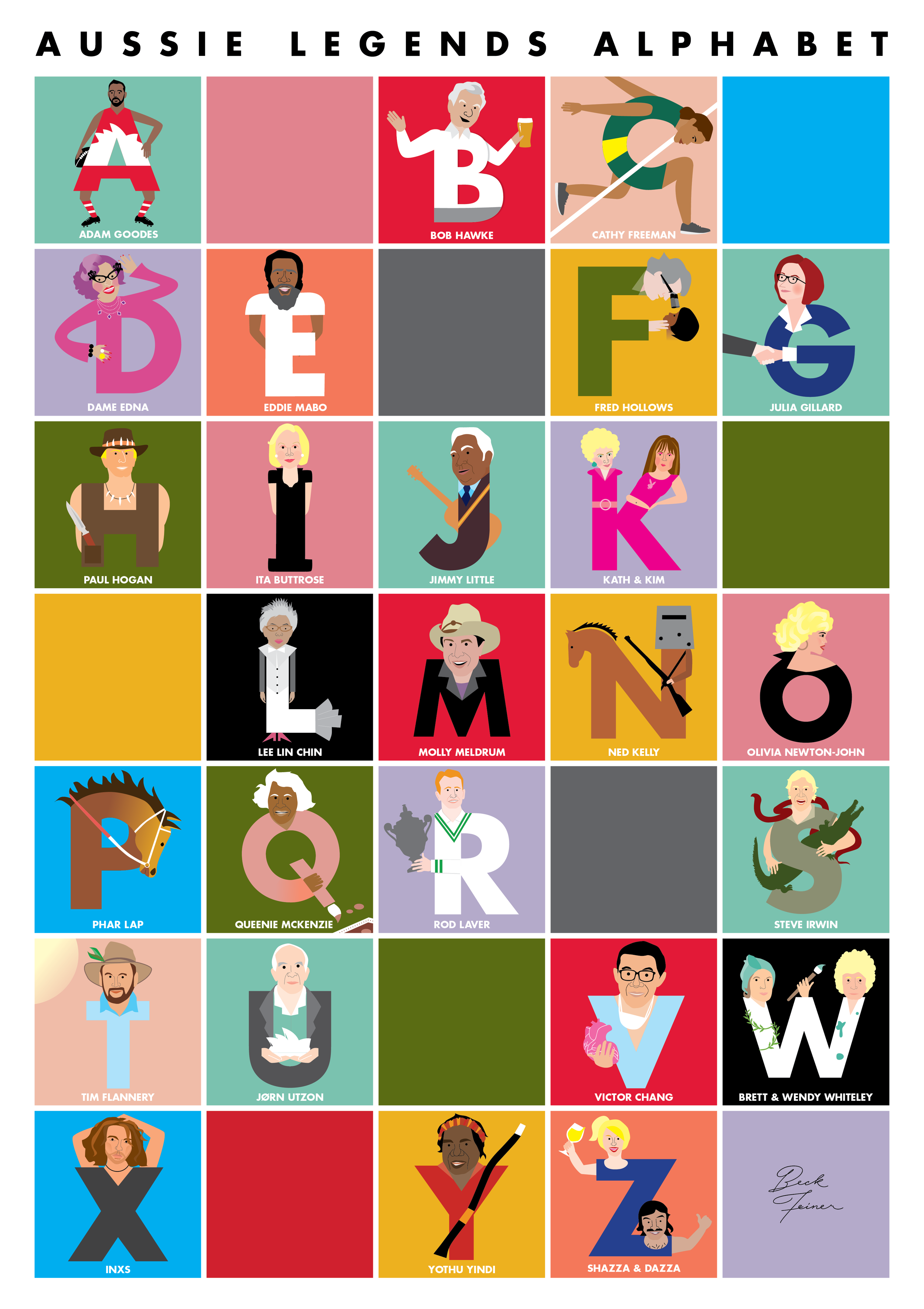 Beck's ABC poster started as a letter a day on Instagram.