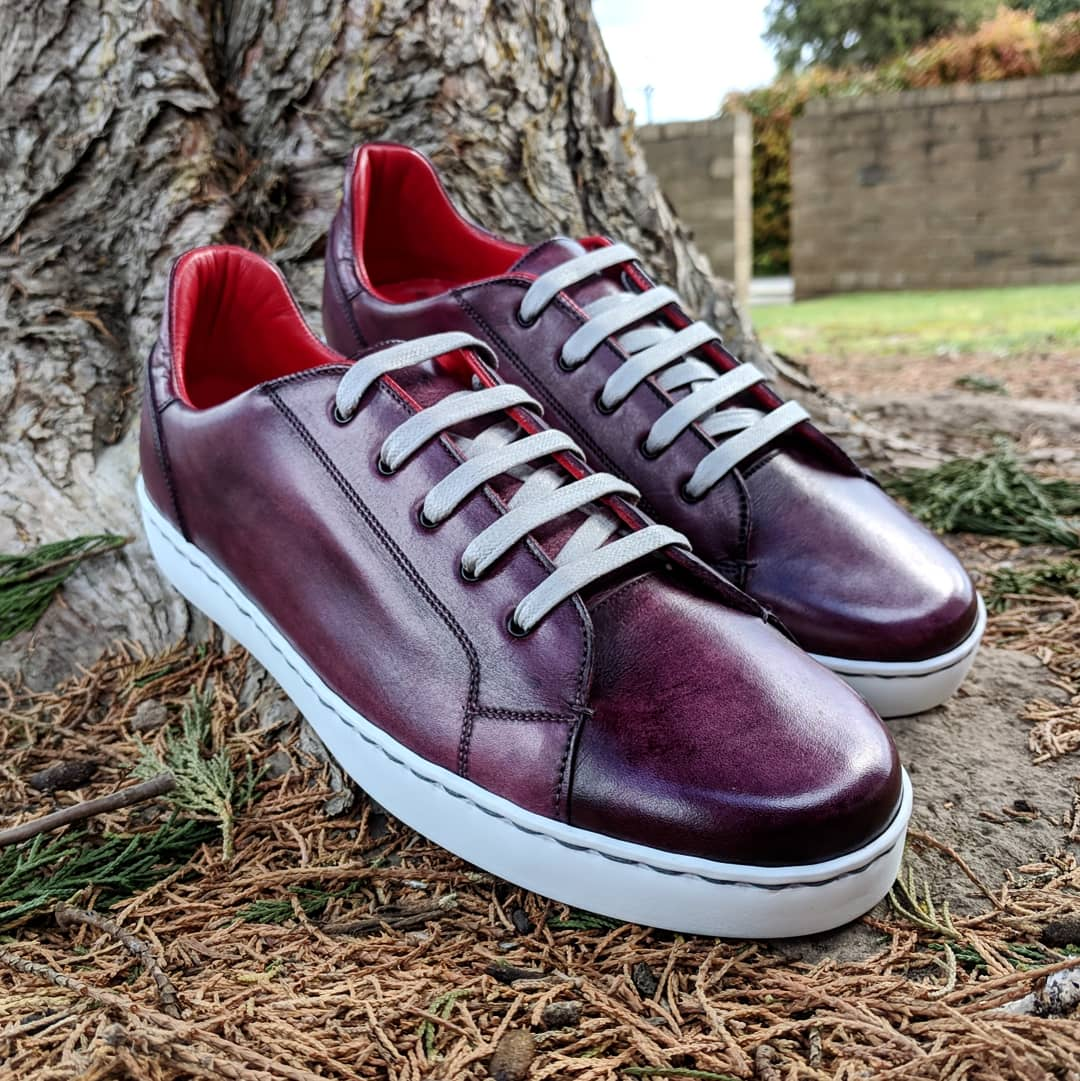 A pair of sneakers made by Melody back in Melbourne.