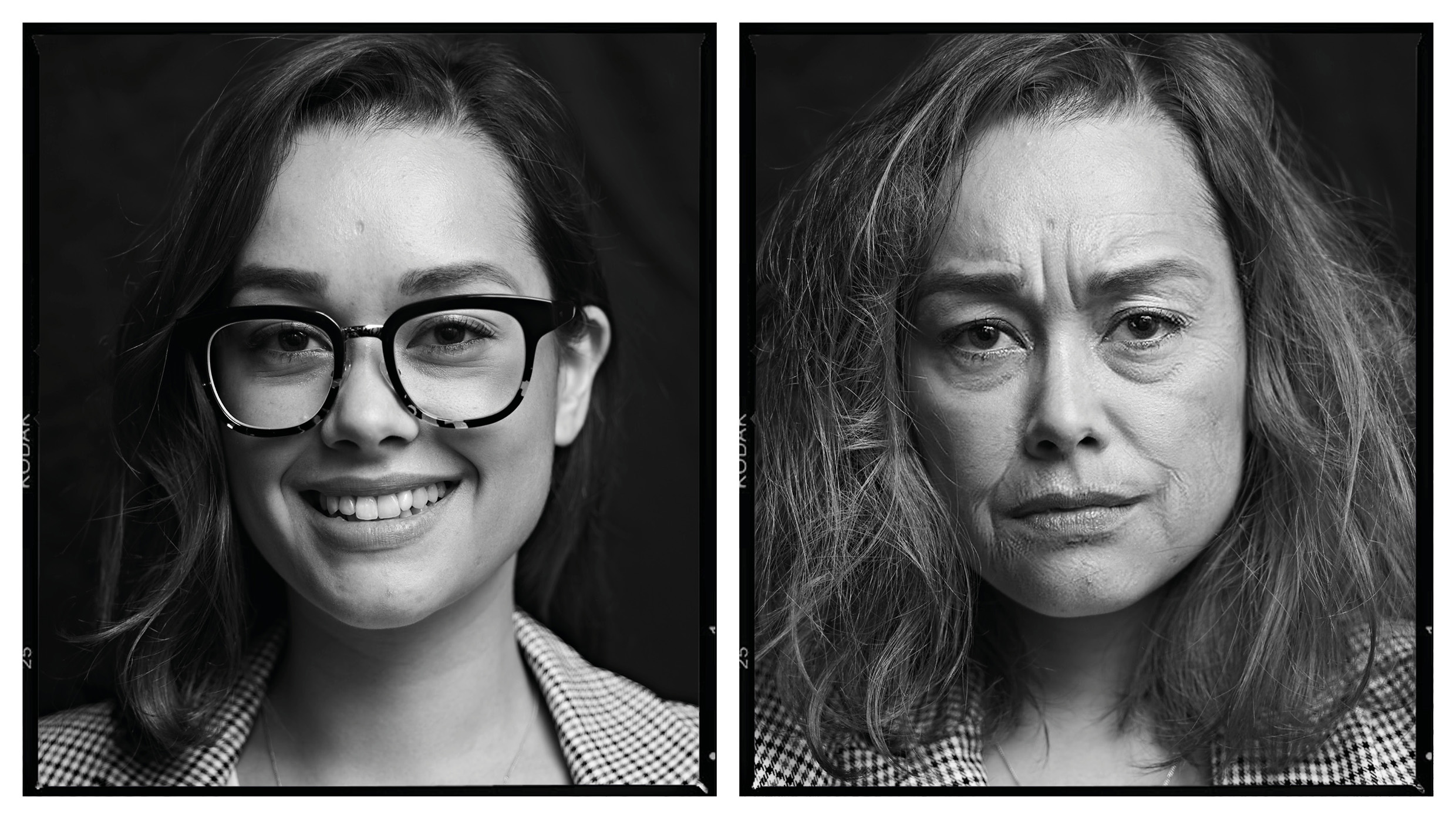 How much can ad life age you in a week? Art Director, Kat, on a Monday… and on a Friday. See more in this Gabberish portrait series  here .