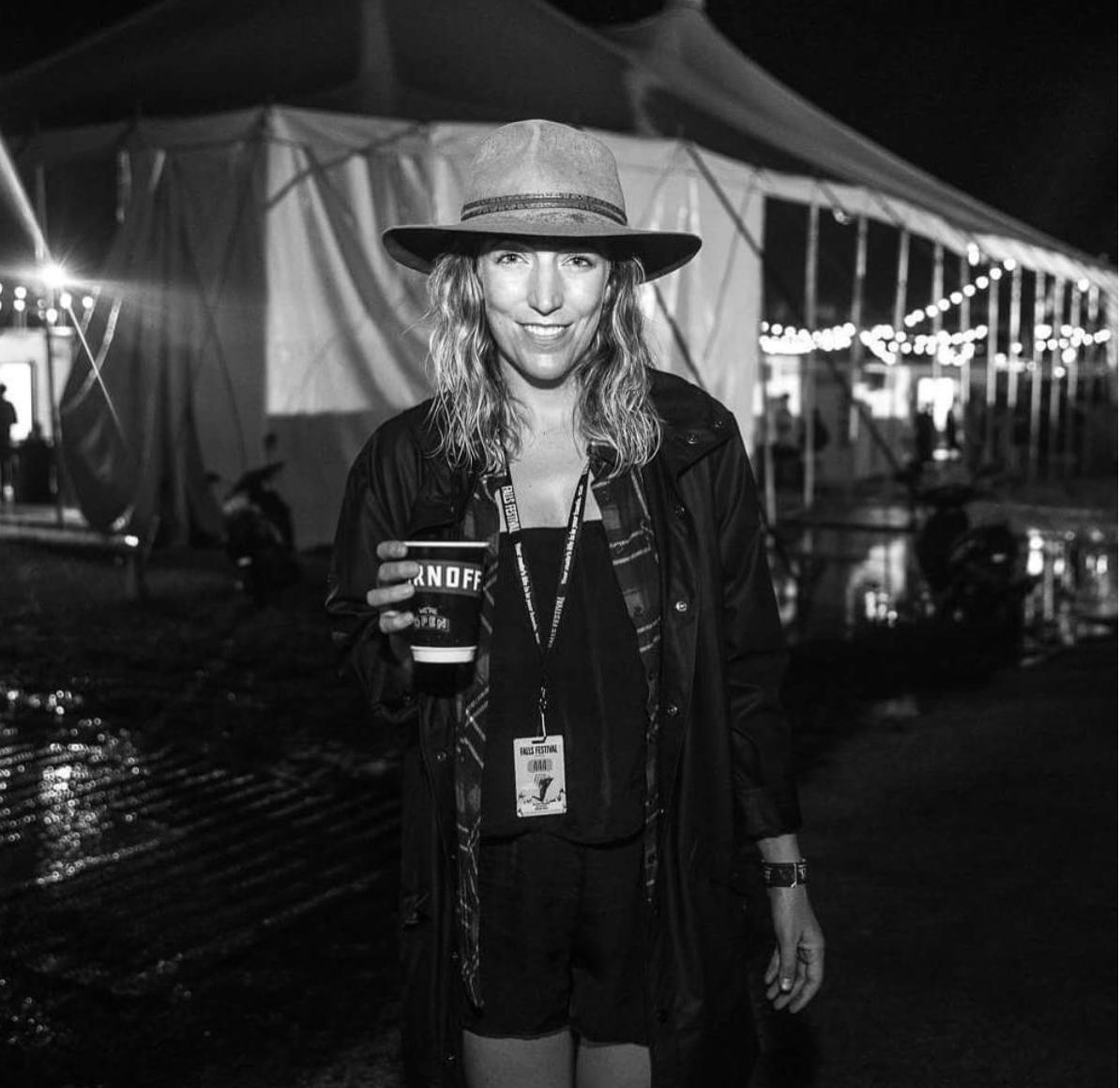 Ellen wearing her production hat for Secret Sounds at Falls Festival. Photo credit  @yayastemp