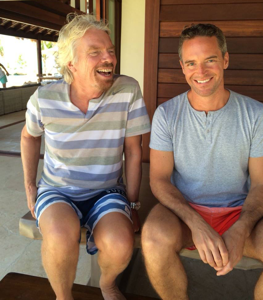 """I've had great mentors every step of the way. I even tracked down Richard Branson and plumbed him for advice."" Ben with his long-time business idol."