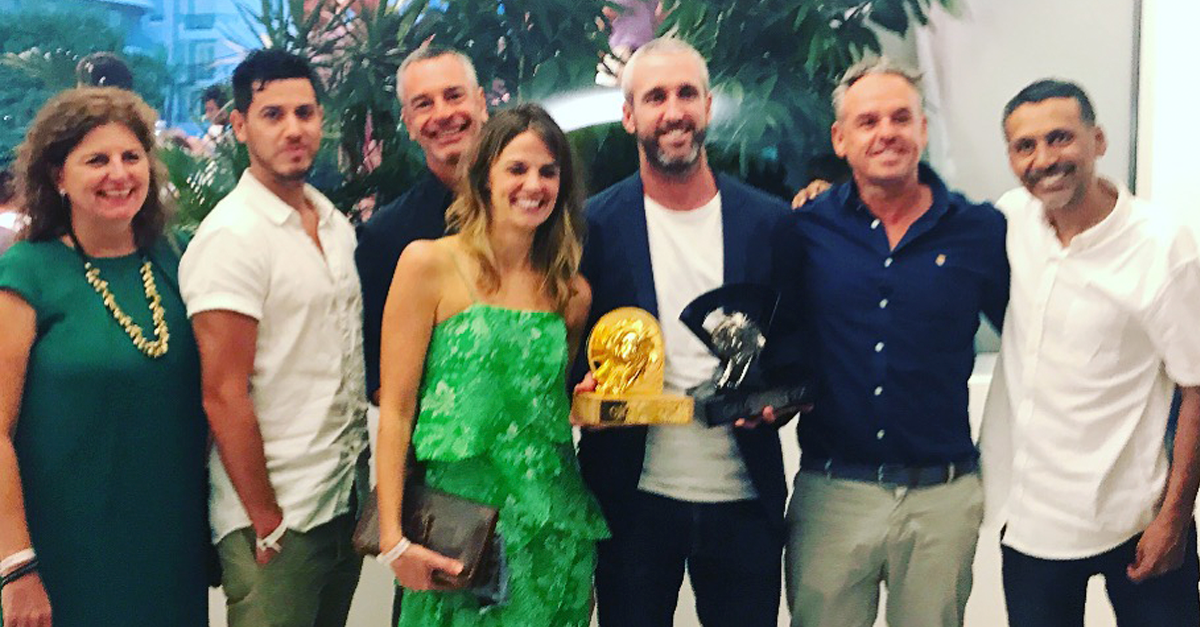 The Host/Havas team at with their Cannes gold.