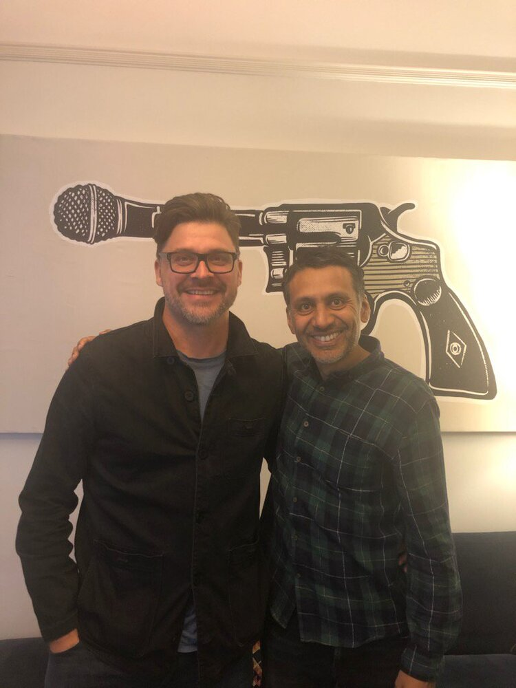 Ant with Nick West, Creative Director at Smith & Western, producers of Brown Riot.