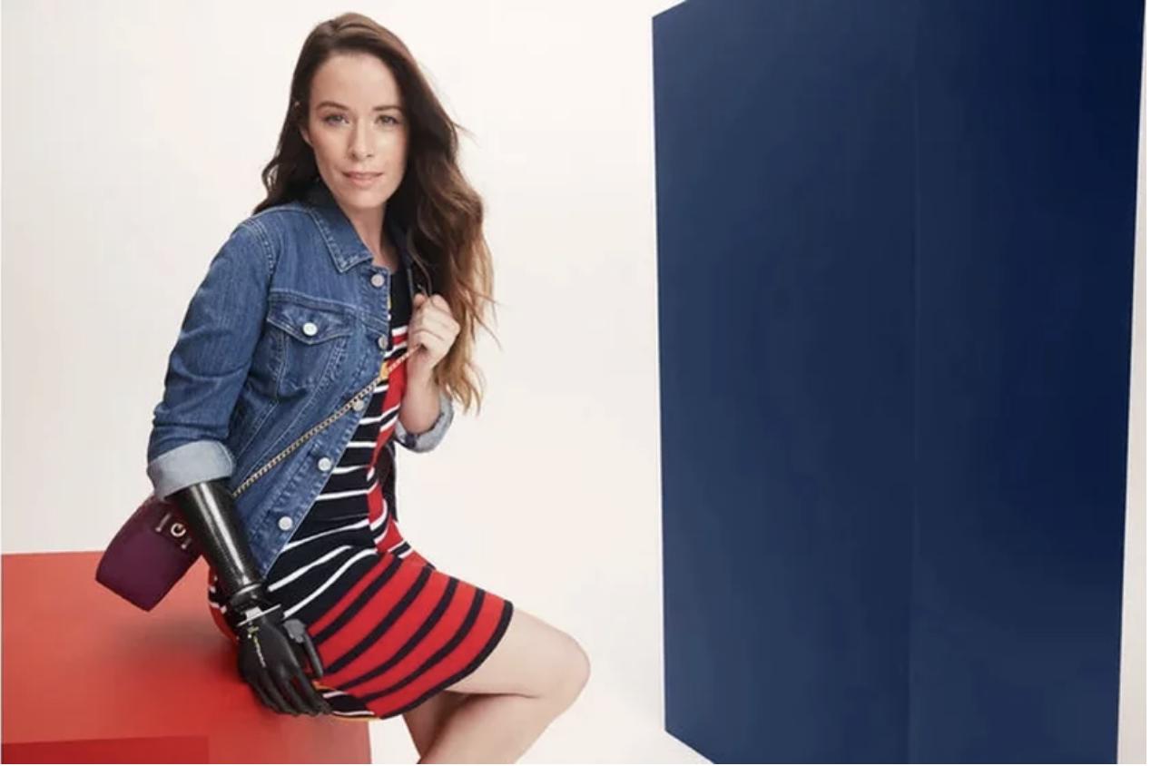 Bionic fashion model, Rebekah Marine.