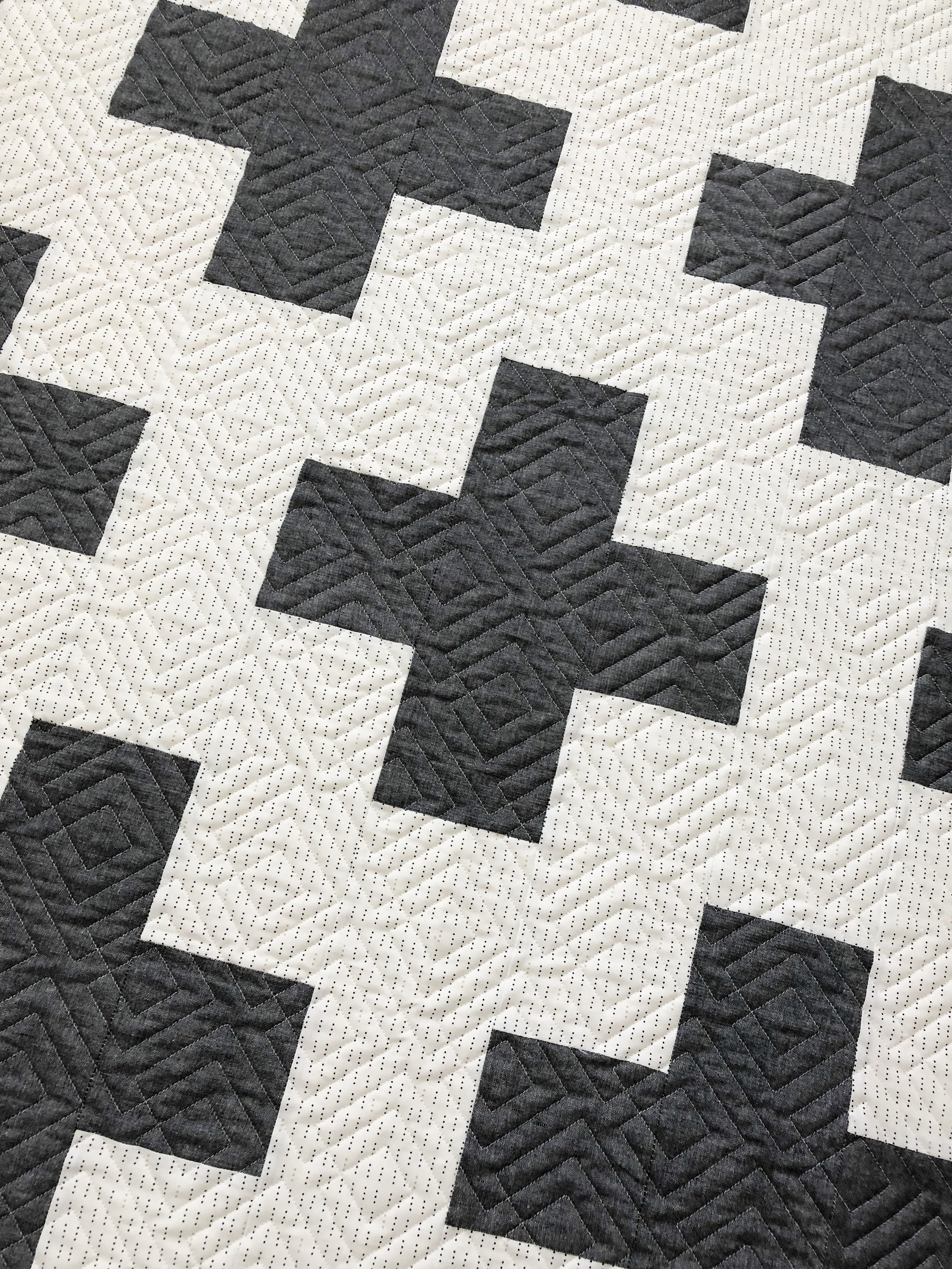 Amanda also picked Shannon Fabrics super soft embossed Cuddle (minky) dot for the backing.