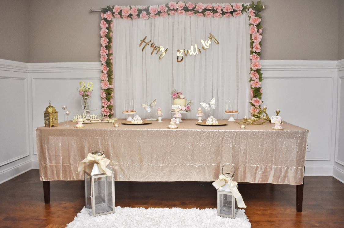 Pink & Gold Glam Theme -