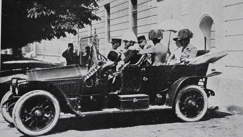 The Gräf & Stift touring car that carried Archduke Franz Ferdinand and his wife Sophie to their death on June 28, 1914.