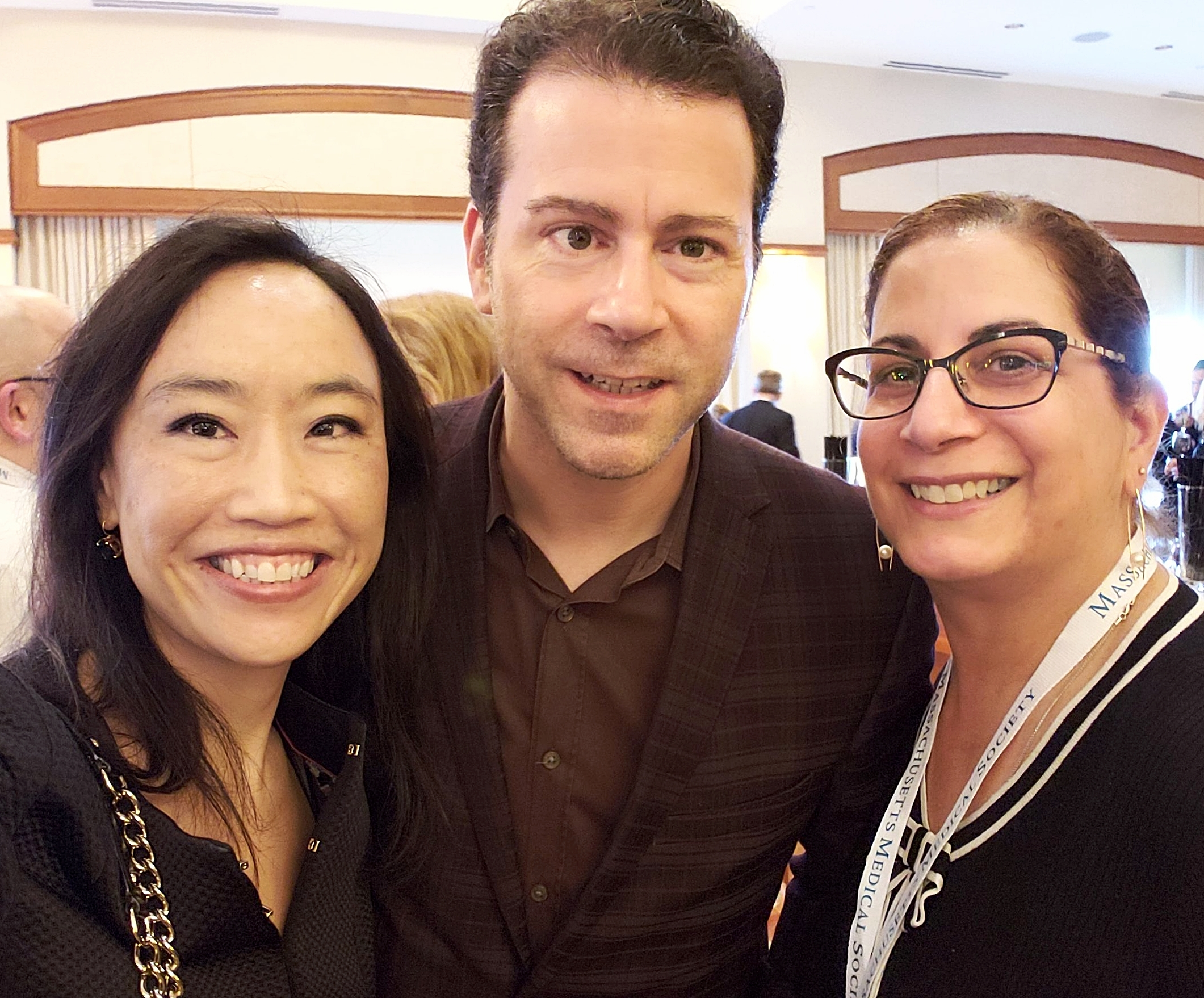 (From left to right) Jennifer Joe, MD (MMS IT Committee & Communications Committee member), James Ryan, Kathy Hughes, MD (MMS Women's Committee Chair)
