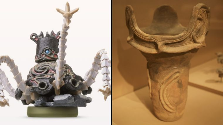 The architecture for Breath Of The Wild was inspired by Japan's Jomon period pottery which is actually the era that first contained any mention of Shinto in documentation.