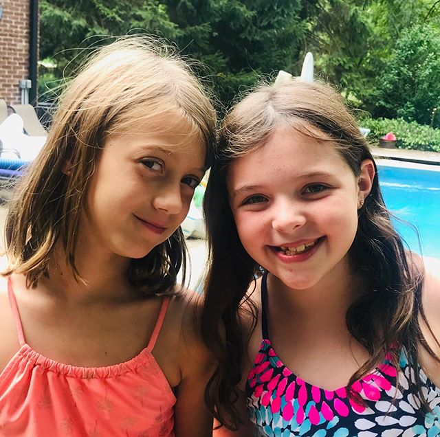 That summer where Caroline and Carwen spent every day together! Love that these two have such a strong friendship! 👯 #bestfriends #swimcookoutsleepovertradehousesrepeat