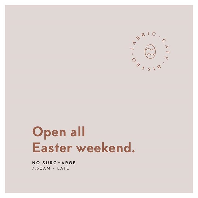 Yes! We are business as usual over the next few weeks- no surcharge, just beautiful coffee and delicious food, all day. #longweekend #brunchgoals #aucklandeats #aucklandbrunch #aucklandrestaurant #coffee #hobsonvillepoint #catalinabay #easter #nosurcharge
