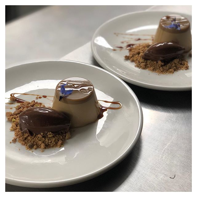 This beautiful espresso panna cotta was the perfect finish to a bespoke three course meal last night.  Who would like to see it on the dessert menu for spring?  #talentedchefs #pastry #aucklandrestaurant #dessertgoals #aucklandeats