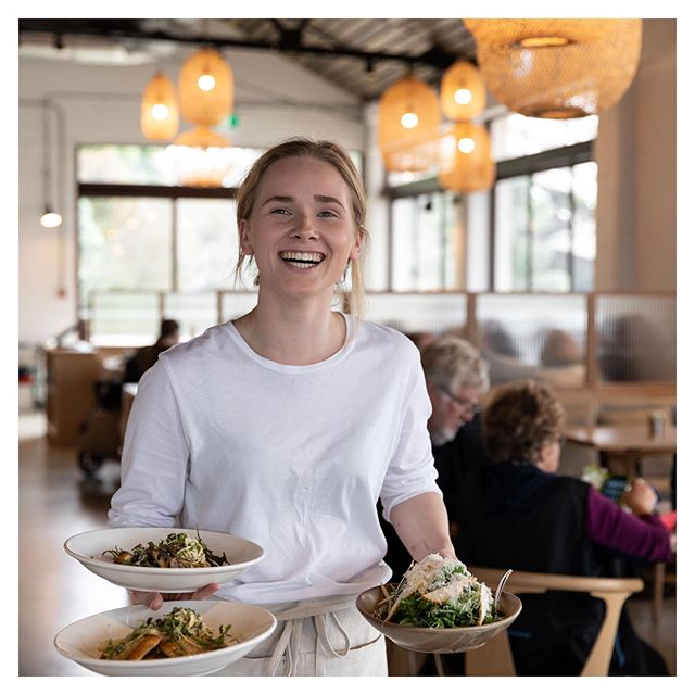 Rolling into Monday like 😃  Come and see our beautiful and smiling team for your daily Fabric feelgood vibes  #servicewithasmile #humansoffabric #aucklandcafe #aucklandrestaurant