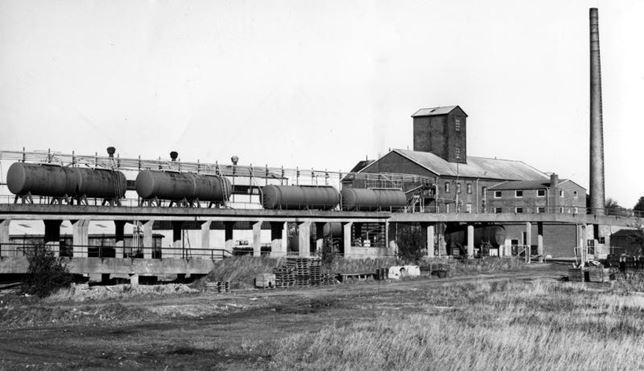 Bild från 1967 som visar den dåvarande växtgiftfabriken.