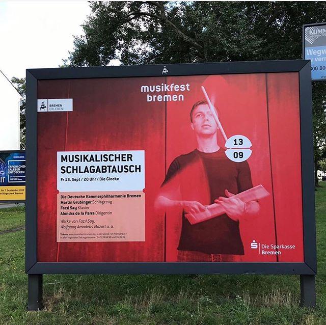 Bremen tonight together with @dkambremen @fazilsayoffical @alondradlp at the @musikfest_bremen . . #percussion #mygroove @keynote_artist_management