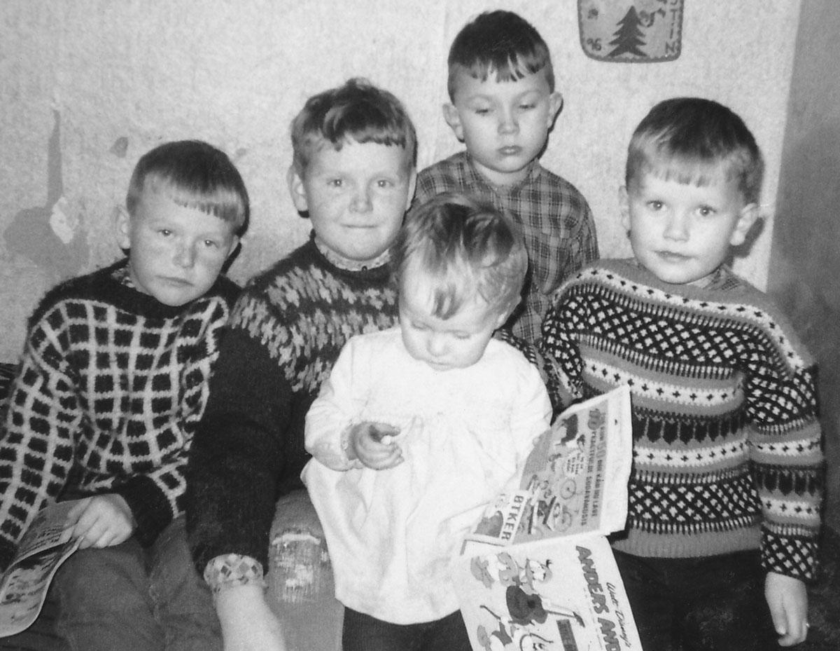 Magnús Benedikt, Atli, Bjarni. Kristín fyrir framan. (Mynd: IB)
