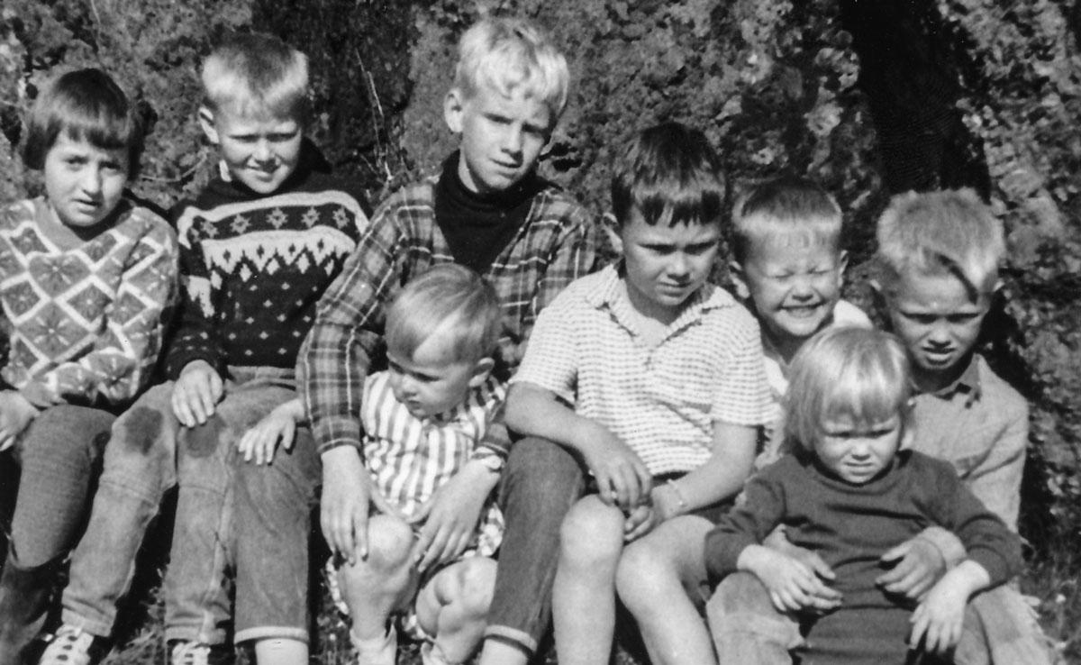 Guðný, Magnús, ? með Kristínu, Atli, Bjarni Jakob Narfi með Guðbjörgu. (Mynd: IB)