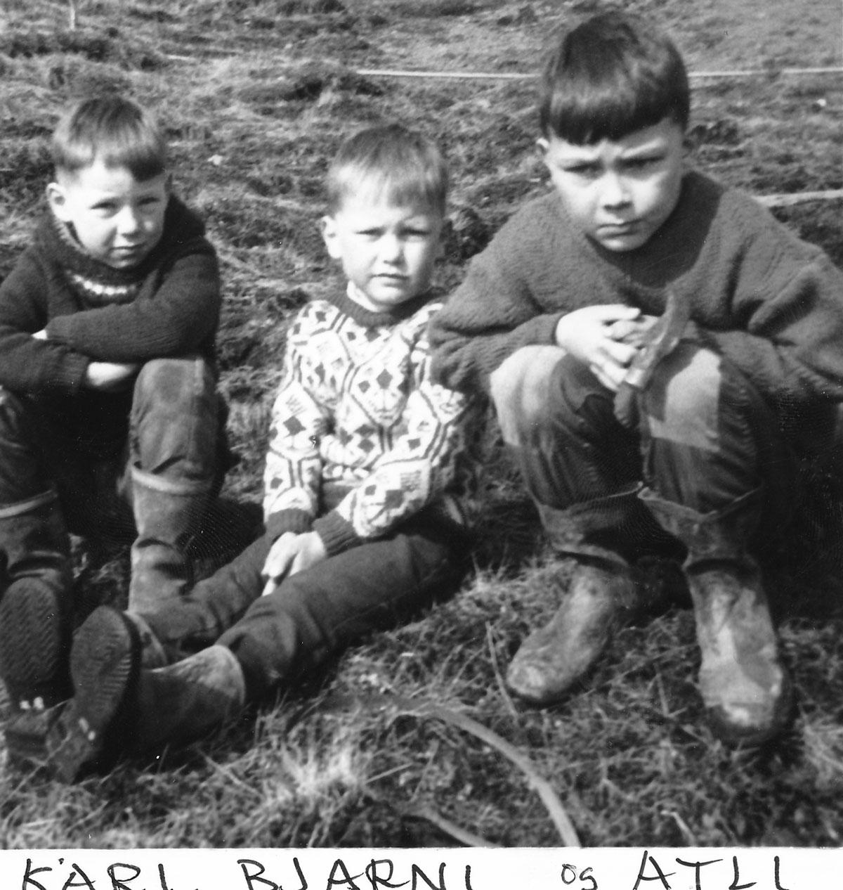 Kári, Bjarni og Atli. (Mynd: IB)