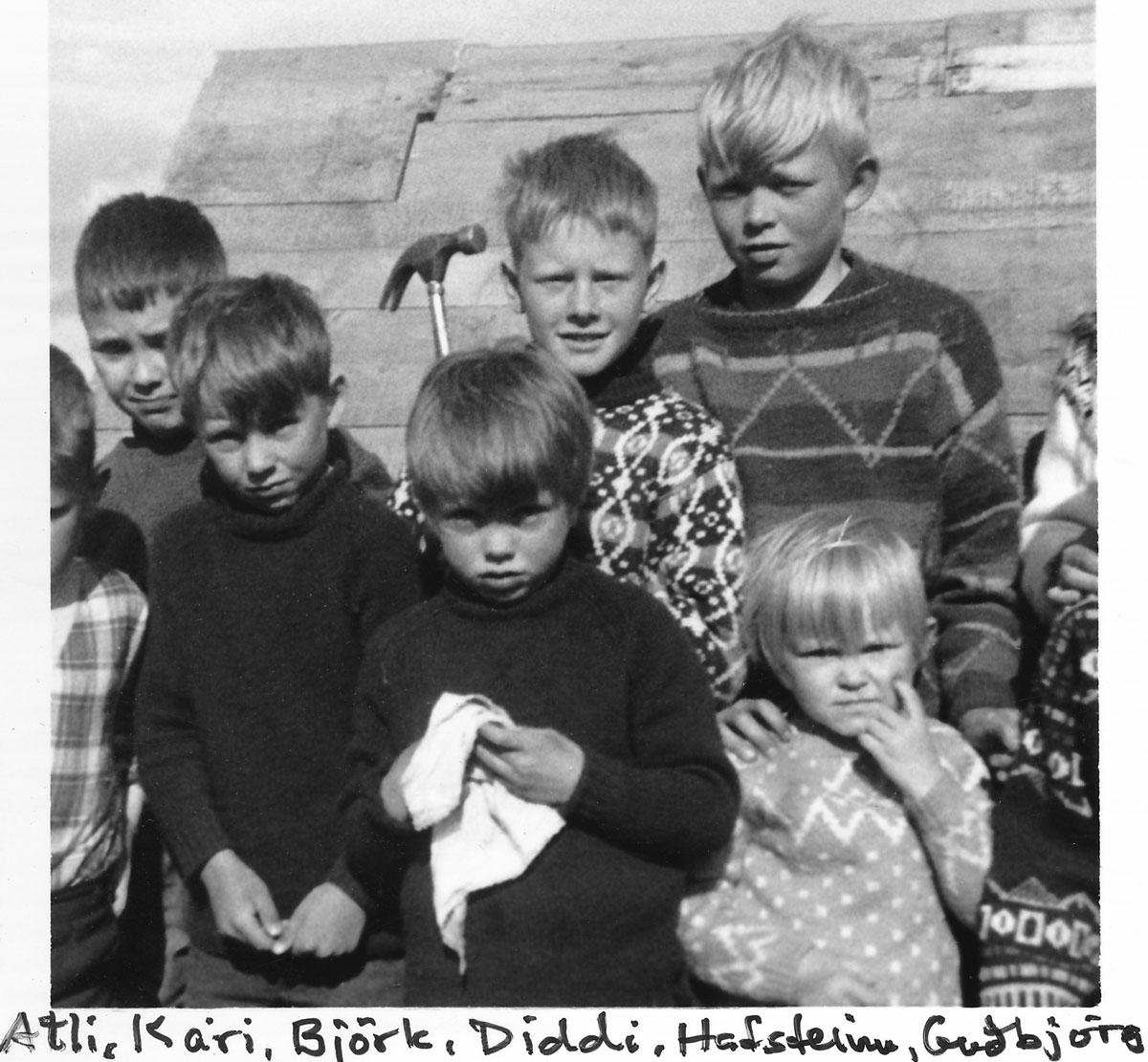 Atli, Kári, Björk, Diddi, Hafsteinn, Guðbjörg (Mynd: IB)