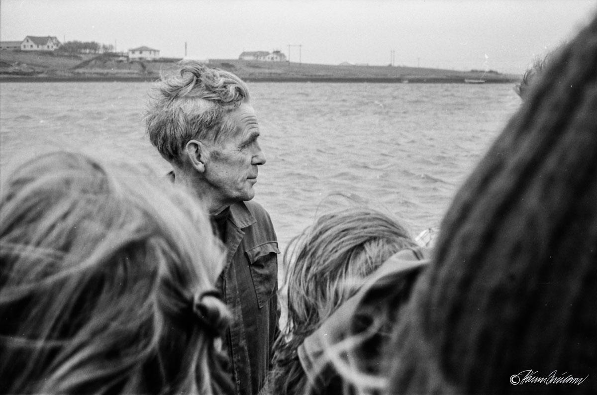 Vettvangsferð 1980. Einar Tómasson (1912-1988) í Auðsholti. (mynd pms)