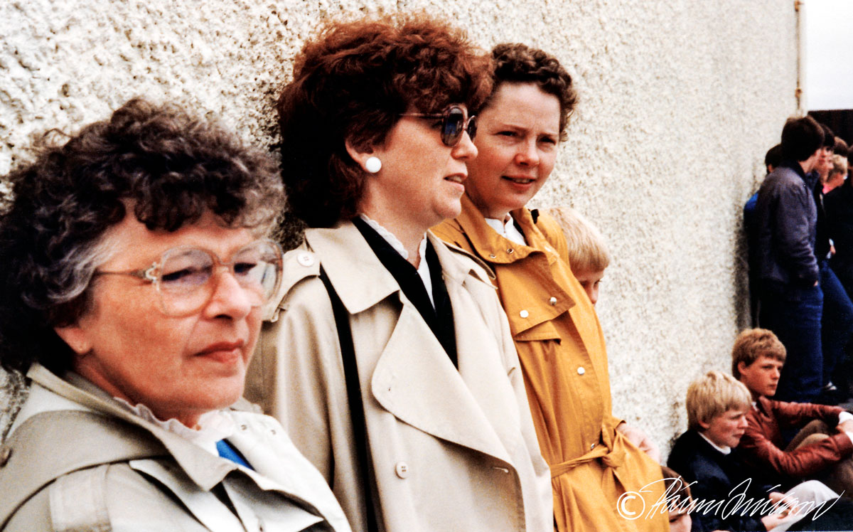 17. júní 1983 F.v. Jóna, Karítas Óskarsdóttir, Renata Vilhjálmsdóttir, Ari Konráðsson, Sigurður Ólafur Ingvarsson  (Mynd pms)