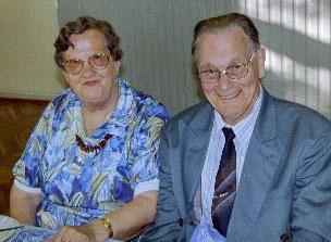 Ketty og Børge á áttræðisafmæli Børges 1993. (Mynd frá Lissie Lemming)