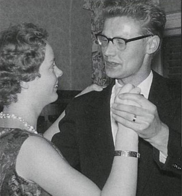 Renata og Gunnlaugur á trúlofunardaginn (mynd úr Litla bergþór)
