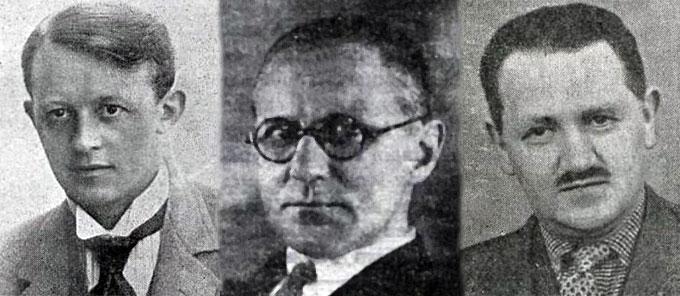 Þorsteinn Sch. Thorsteinsson, Haraldur Árnason, Sigurður Thorlacius